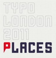 "Typo London: ""Places"" (Logo)"