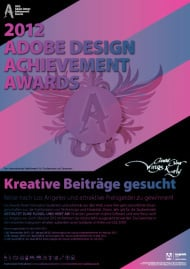 12. Adobe Design Achievement Awards (Plakat)