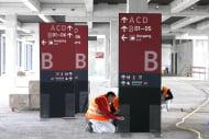 Flughafen BER: Musterweg – Lesbarkeit Inhalte und Positionen wurden anhand von 3 Musterwegen überprüft. (Foto: Moniteurs)
