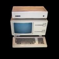 Apple Lisa, mit Festplatte auf dem Monitor (GFDL)