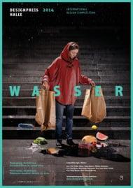 """""""Wasser""""/Designpreis Halle(Plakat)"""