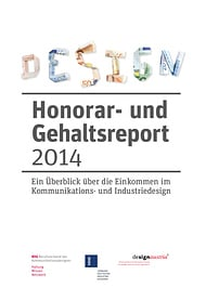 """Design-Honorar- und Gehaltsreport 2014"" (Dokumentations-Titelblatt)"