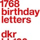 1.768 birthday letters (Slanted)