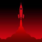 Rakete Rot