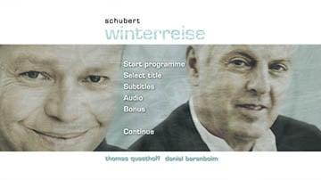 DVD – Winterreise Hauptmenü