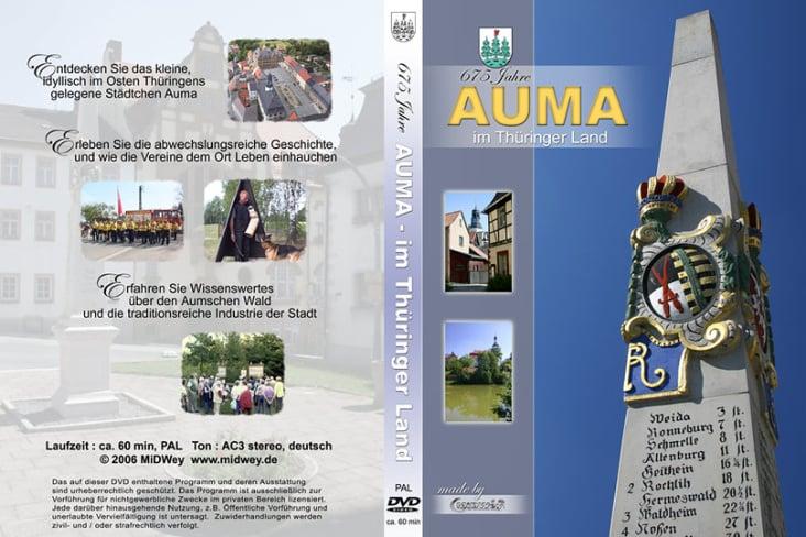 Stadtportrait Auma, rechte Seite : Fotos EOS 300D, linke S.: Screencaps aus dem Film