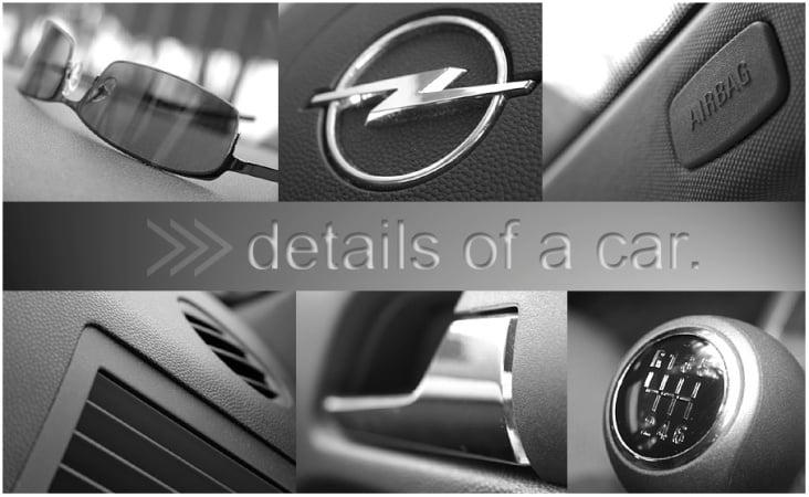Details aus dem Cockpit eines Opels …