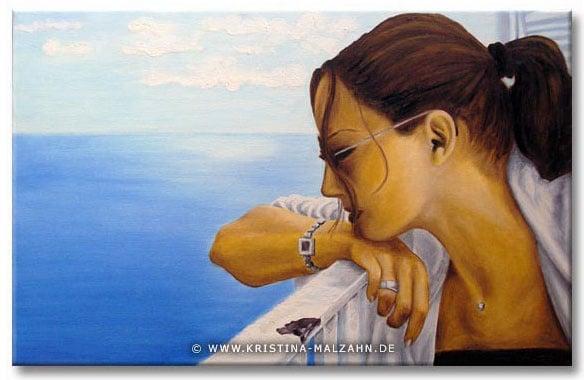 Portraitmalerei Öl auf Leinwand, 0,7×0,5m