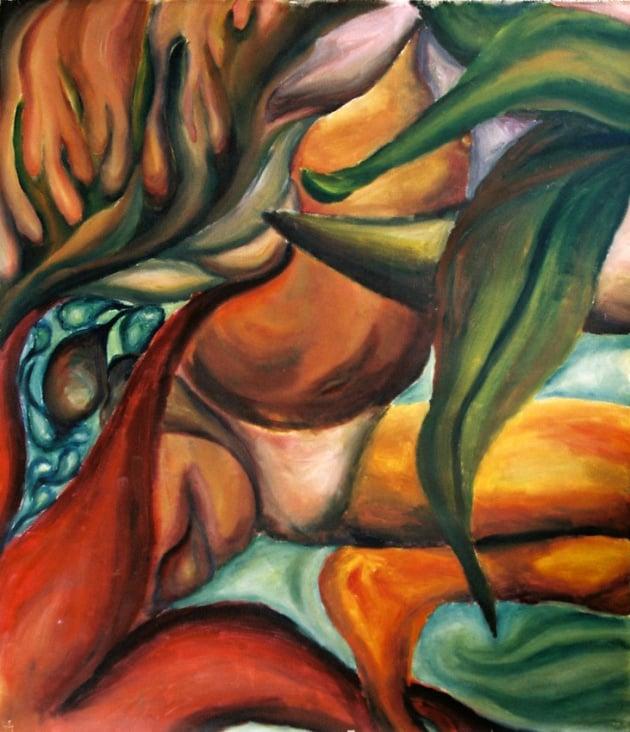 Nature#6, 110×90cm, Acryl auf Leinwand