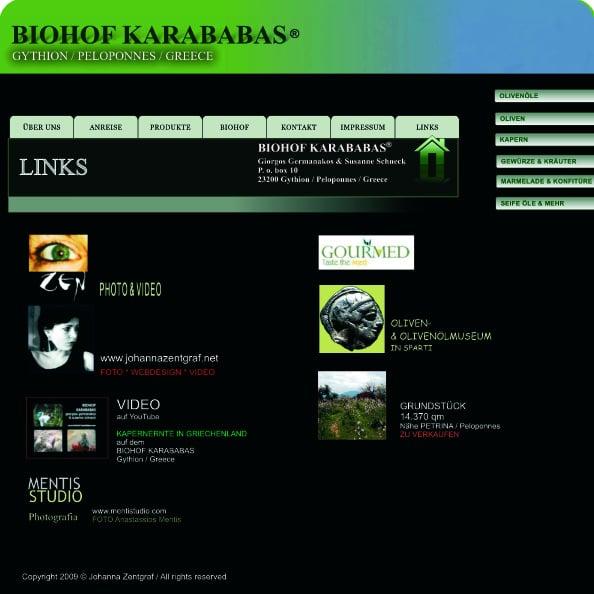 WEBSITE BIOHOF KARABABAS 2009 – Site 13