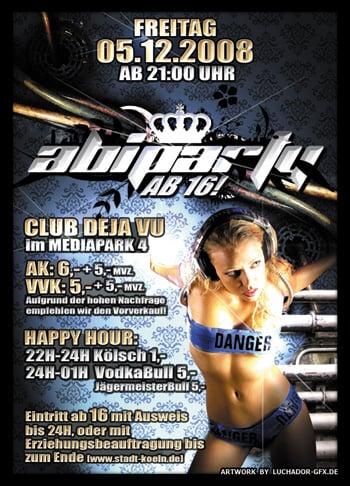 Abiparty Flyer und Poster