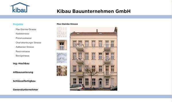 Homepage Kibau GmbH