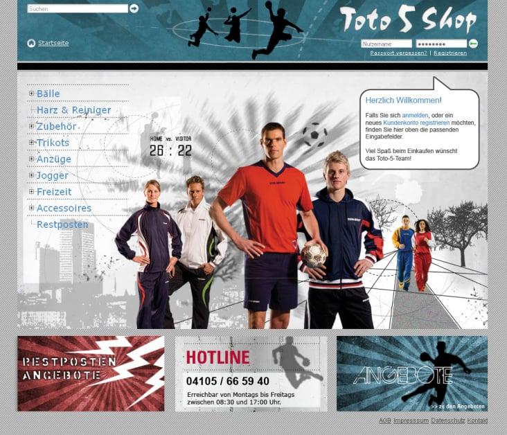 Onlineshop CONSPORT // toto5shop.de
