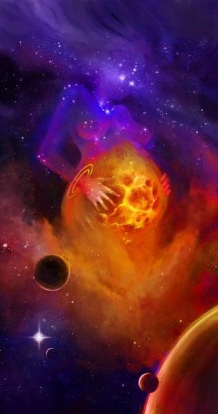 Newborn contest – universe mother