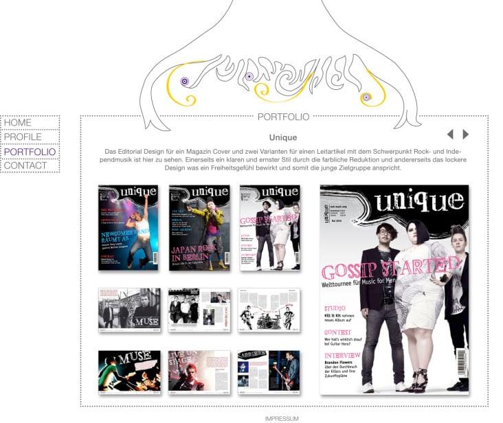 Entwurf für eigenes Webportfolio 2