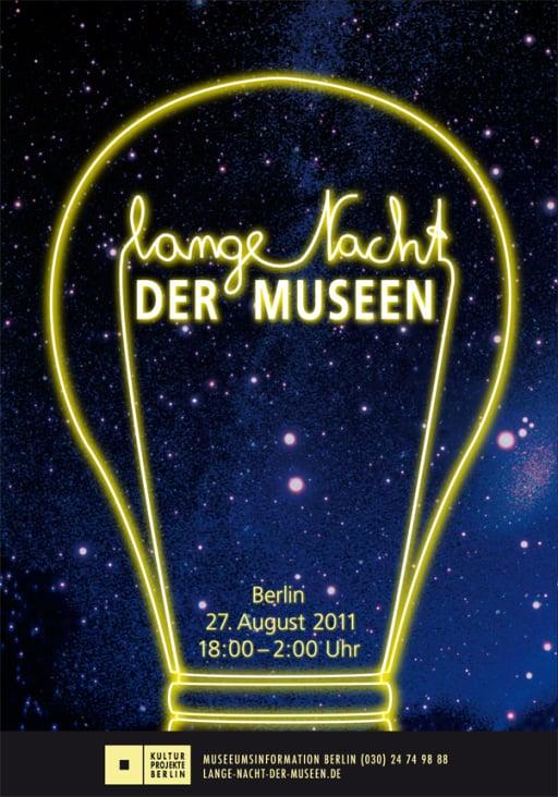 """Plakatserie für die """"Lange Nacht der Museen"""" in Berlin"""