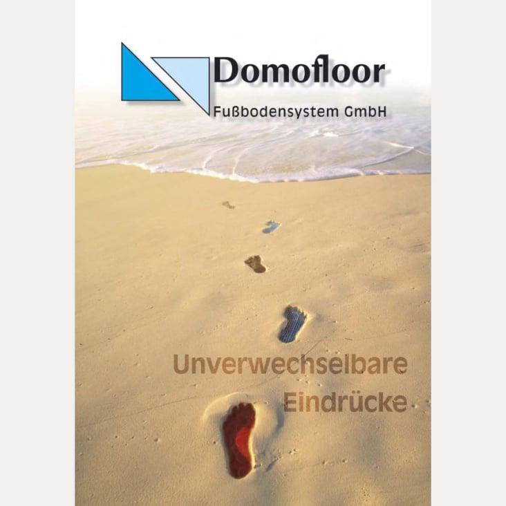 Domofloor – Titelseite Imagebroschüre