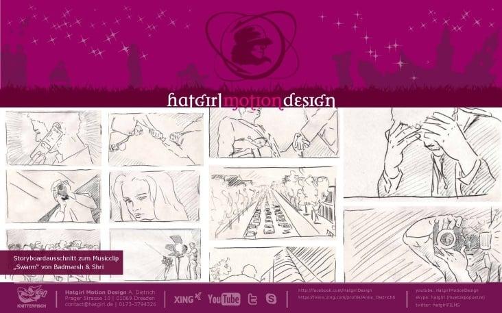 Storyboard Musicclip Badmarsh & Shri mit Jens Hocher