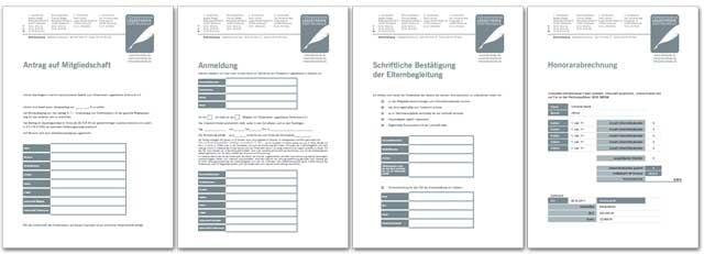 Vereinsformular auf Basis von Word- und Excel-Formularen