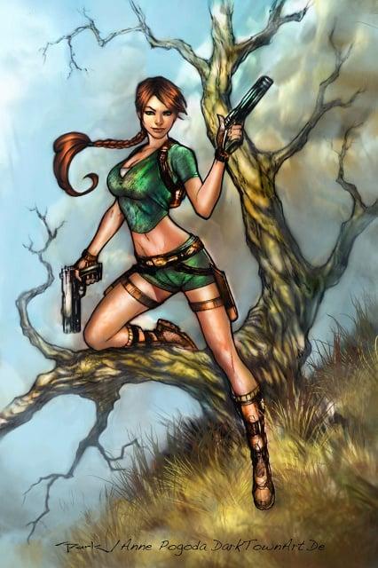 Lara Croft Comic Coloring, lines Andy PArk