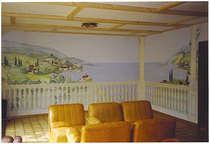 Wandmalerei von illustration wandmalerei dasauge - Wandmalerei wohnzimmer ...