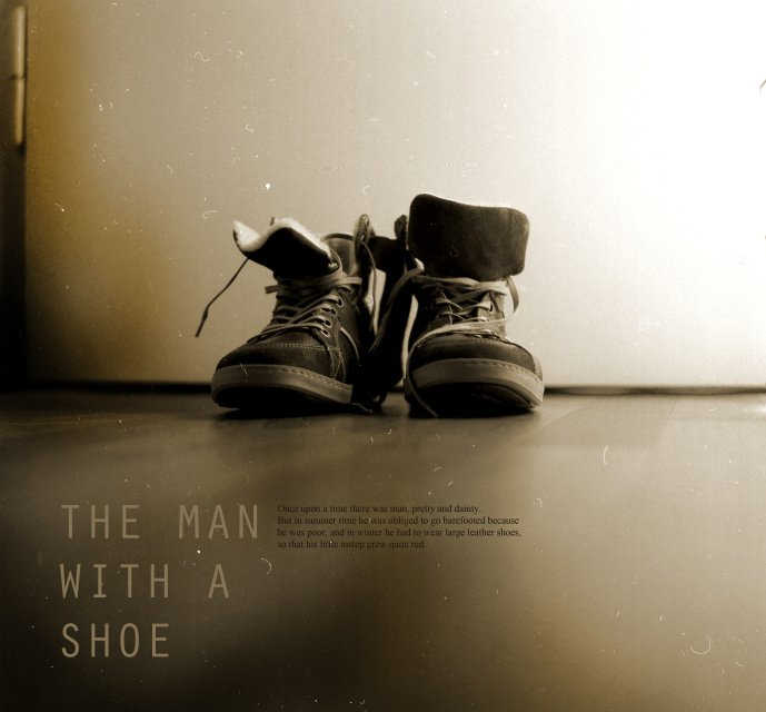 The man with the shoe
