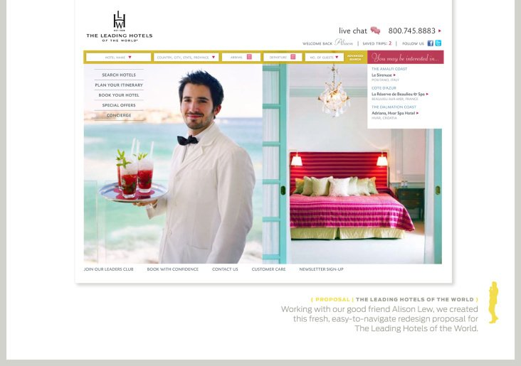 Leading Hotels of the World Homepage