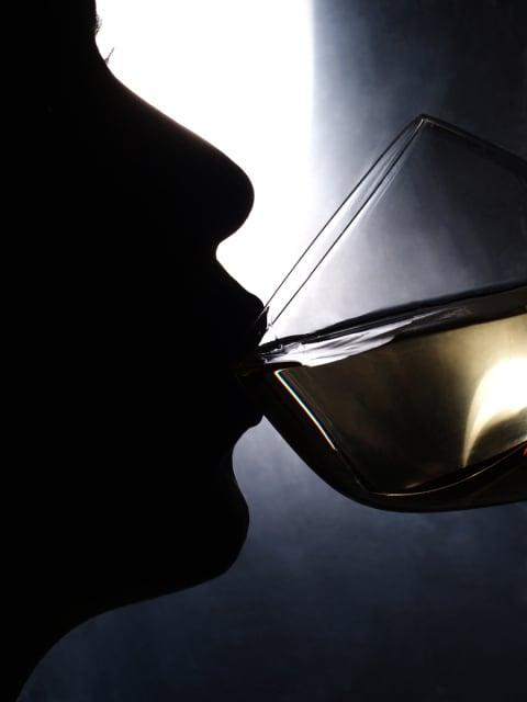 Ein Schluck Weißwein