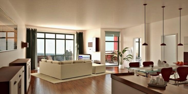 Innen Visualisierung Immobilien Vermarktung