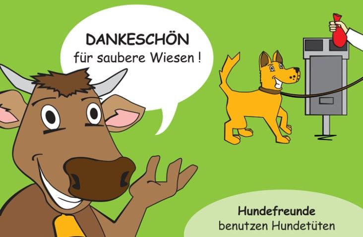 """Illustration für Projekt """"Hundekot in Tüten"""""""