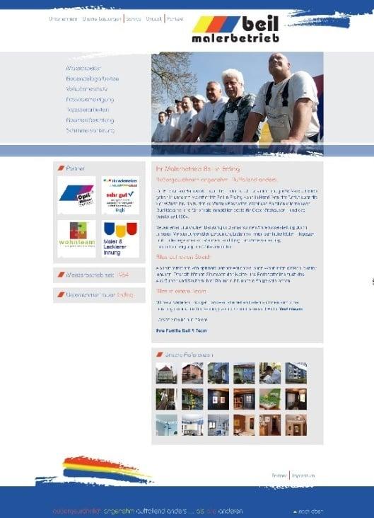Website Malerbetrieb Beil
