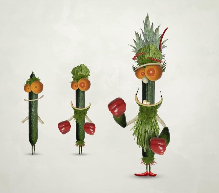 Workshop Obst und Gemüse – Characterdesign – www.stilknecht.de/_boxgurke.html
