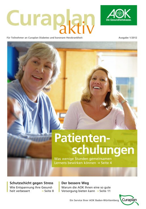 Curaplan aktiv– Ausgabe 1/2012