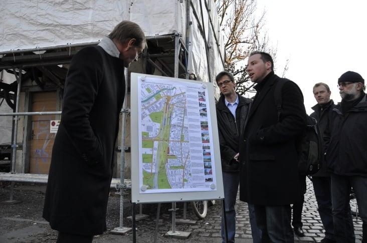 Bürgersprechstunde des Leipziger Oberbürgermeisters Jung in Plagwitz