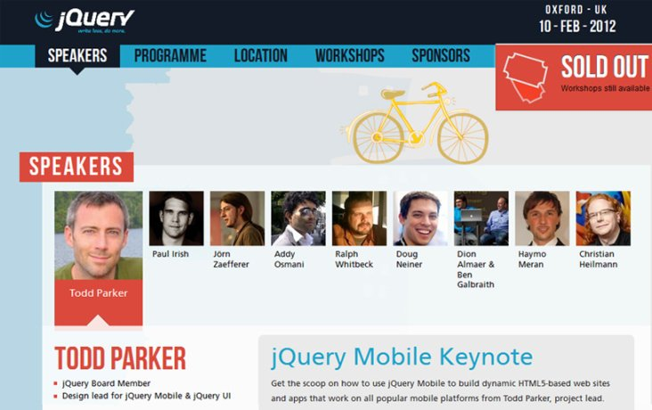 UK jQuery Conference: Website Screenshot