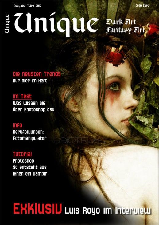 Titel für eine fiktive Zeitschrift