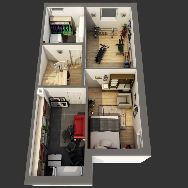 3D Grundriss Kellergeschoss