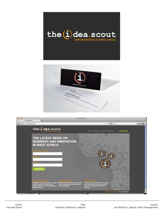 Logo + Website / The Idea Scout
