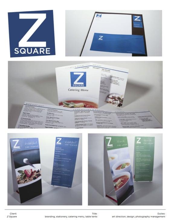 Menu Design / Z Square