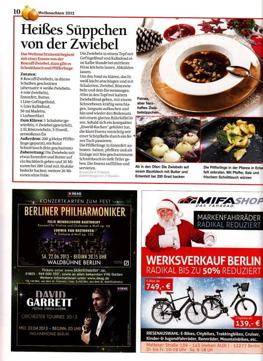 B.Z. Weihnachts-Magazin 2012