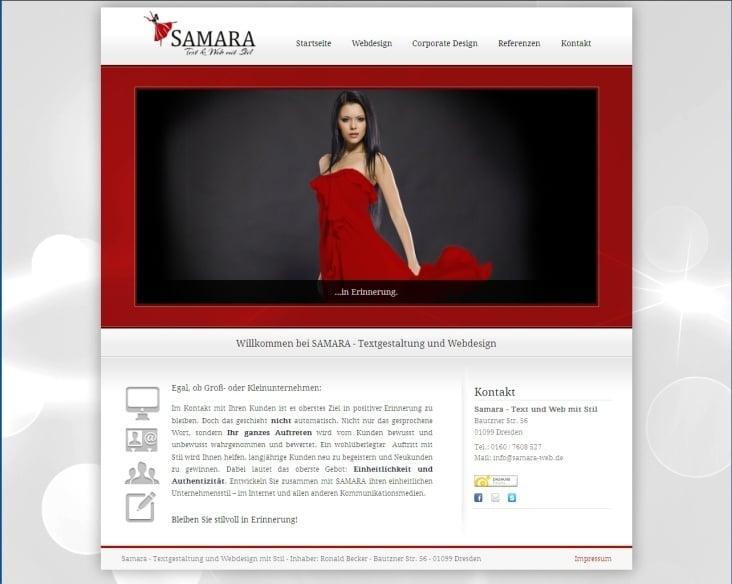 Samara– Text und Web mit Stil– Homepage