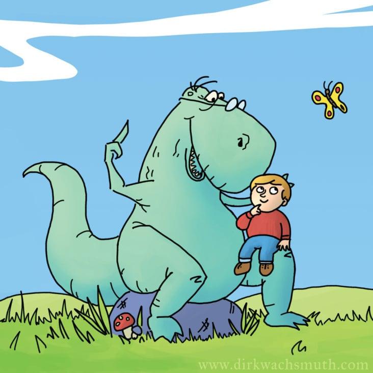 """Seite aus """"Du bist ein Dinosaurier"""""""