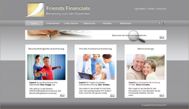 Webdesign für Friends Financials OHG