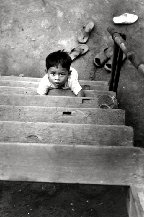 Looking Up – Boy – Cham Minority – Mekong Delta – South Vietnam