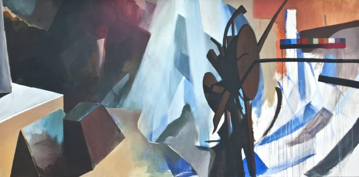 o.T. (Acryl auf Leinwand, 200 × 400 cm)