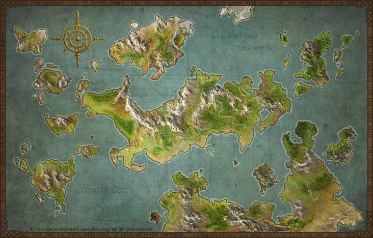 Fantasy Weltkarte
