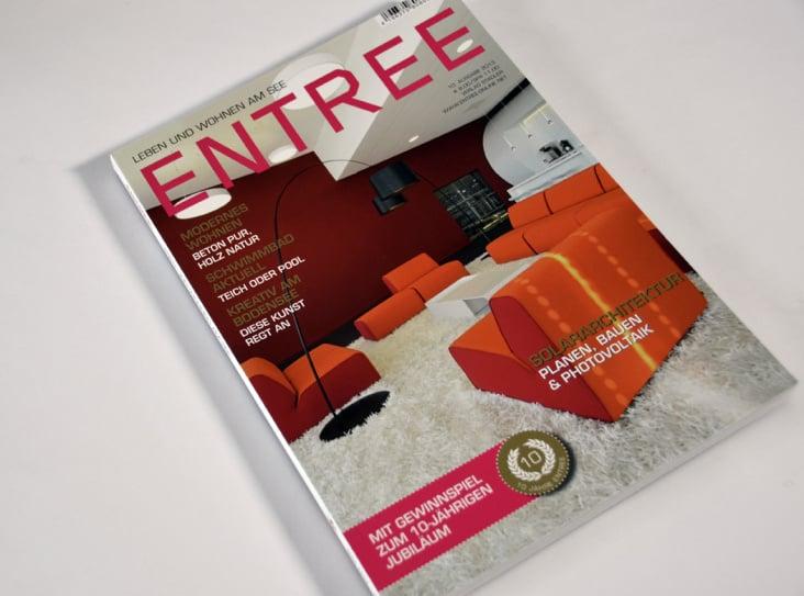 Covergestaltung für Die Architekturzeitschrift ENTREE 2013