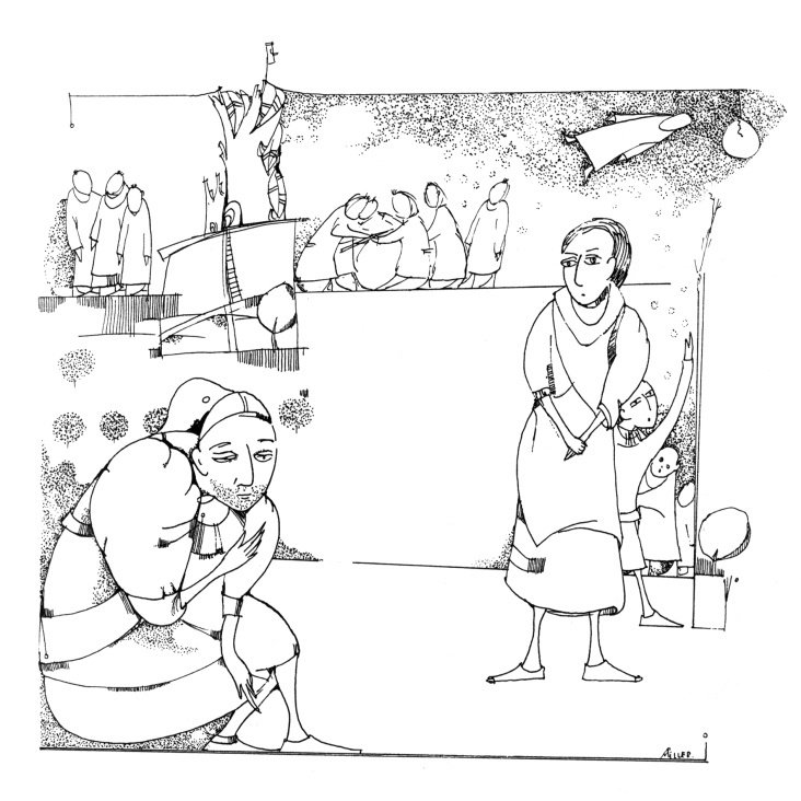 """Illustration zum Fabelbuch von Manana Menabde """"Und die Zeit verging"""""""