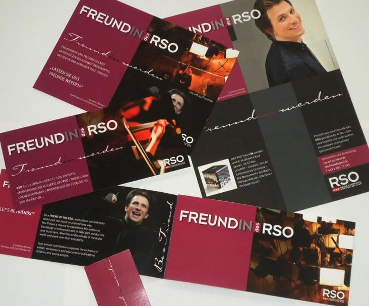 Freunde des RSO/ORF– Grafische Gestaltung
