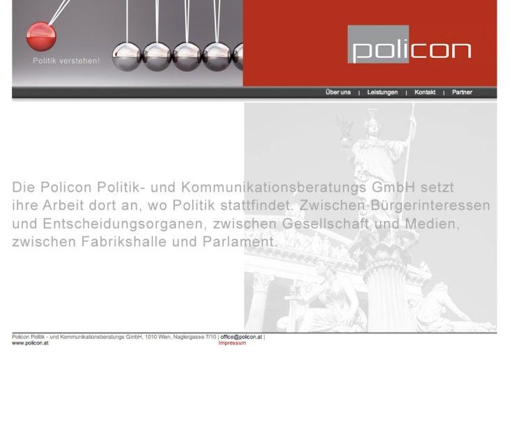 Webdesign – Policon Politik– und Kommunikationsberatungs GmbH